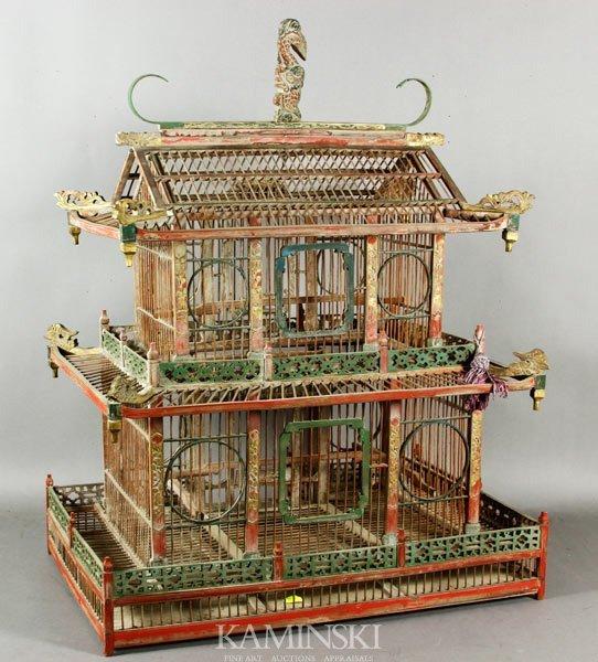 8022: Antique Chinese Birdhouse