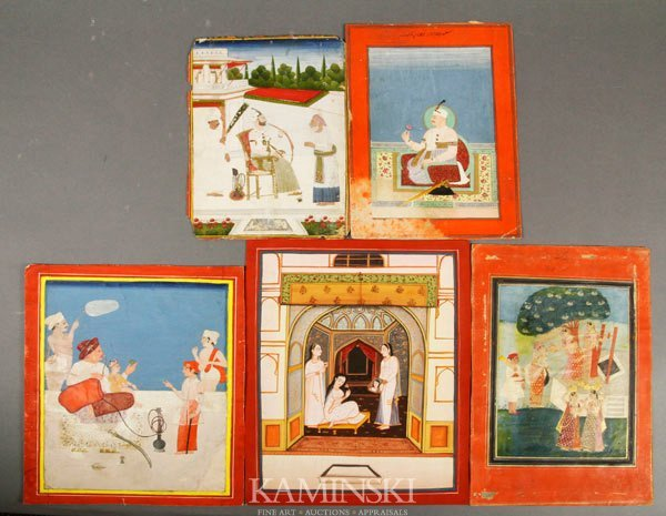 9003: 5 Antique Indian Paintings