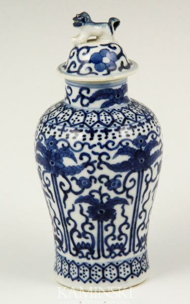 9013: Chinese Blue and White Miniature Jar