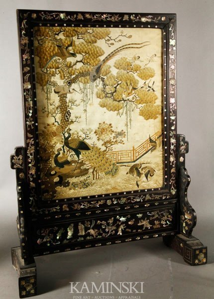 9251: 19th C. Chinese Screen
