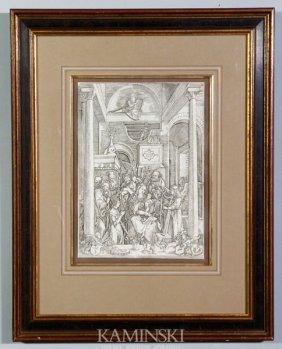 "3003: After Durer, ""The Annunciation"", Print"