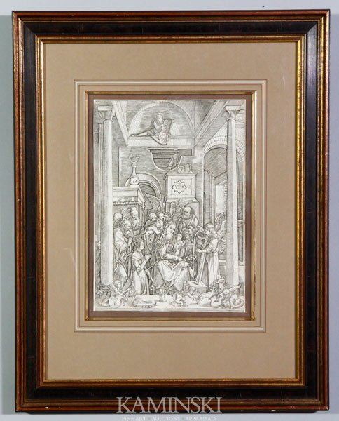 "3003: After Durer, ""The Annunciation"", Print"