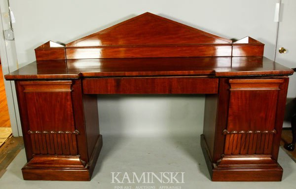 3006: Five Piece Mahogany William IV Sideboard