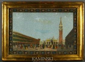 3010: 19th C. Pair of Venetian Hand-Colored Prints