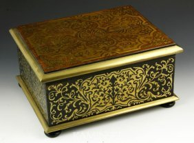 3012: 19th C. English Boulle Letter Box