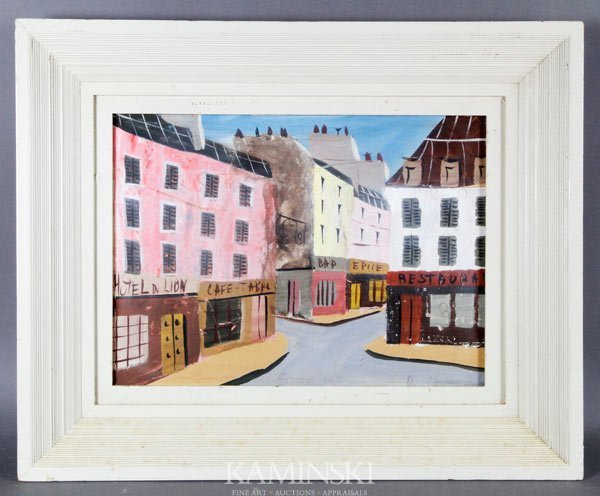 3018: de Montfort, Shops Along Narrow Streets, W/C