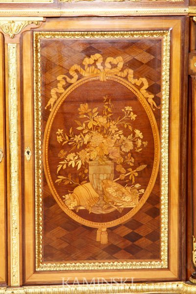3162A: 19th C. French Marquetry Cabinet - 3