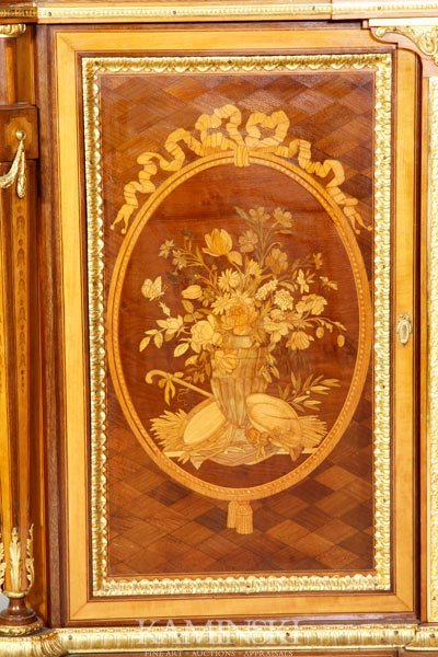 3162A: 19th C. French Marquetry Cabinet - 4