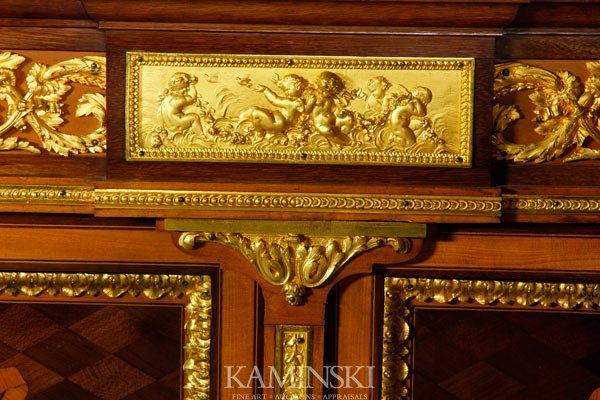 3162A: 19th C. French Marquetry Cabinet - 5