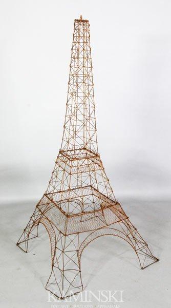 3198: Wire Eiffel Tower Sculpture
