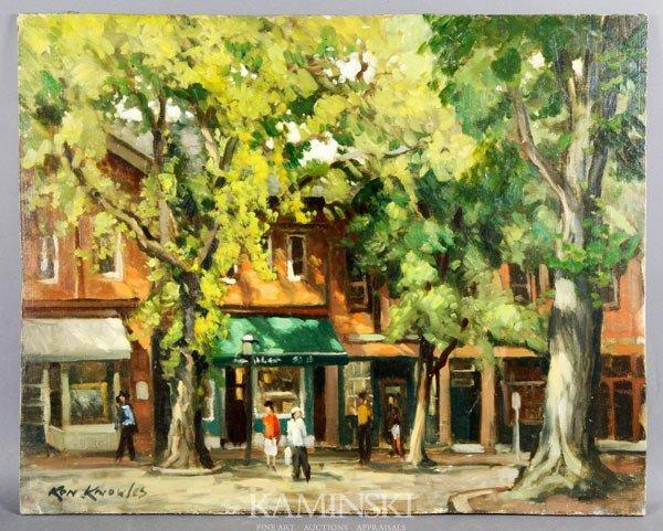 "2004: Knowles, ""Nantucket Shops"", O/M"
