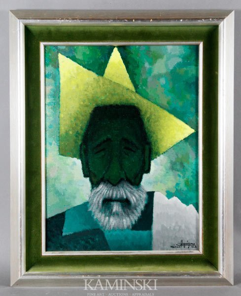 2024: Stylized Portrait of a Mexican Man, O/C
