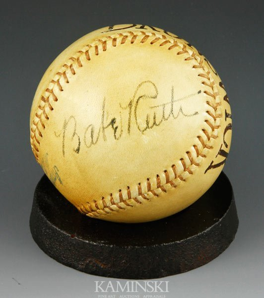 2107: 1939 Babe Ruth Signed Ball
