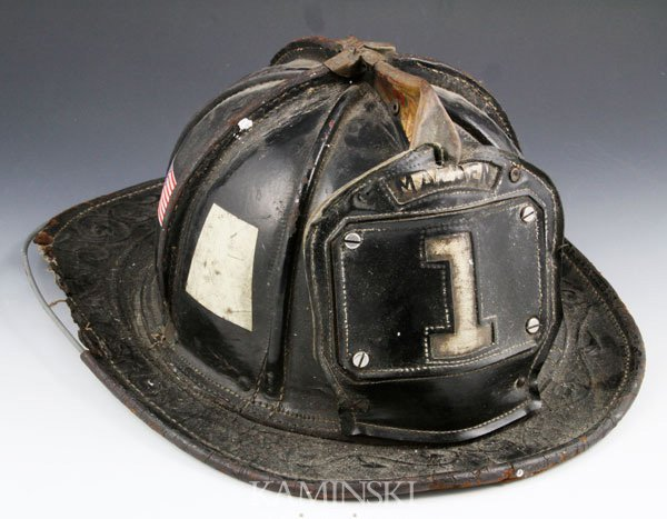 4009: Malden #1 Fire Chief's Leather Helmet