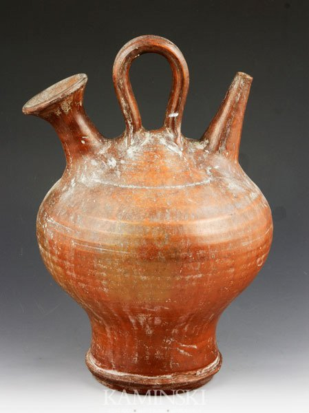 4012: 18th/19th C. Pennsylvania/New Jersey Redware Sipp