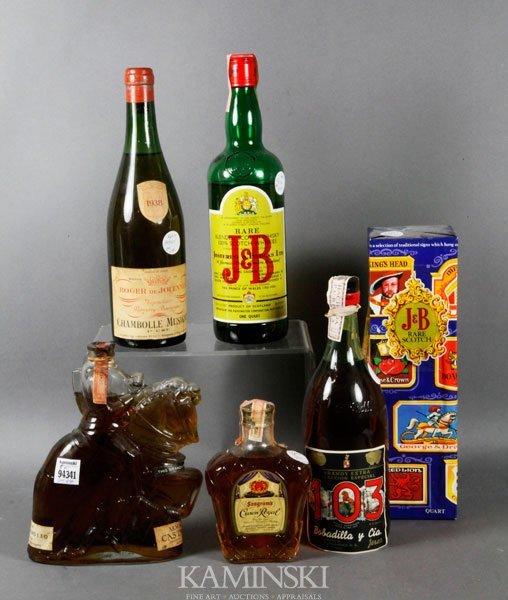 4013: 5 Bottles of Scotch and Brandy