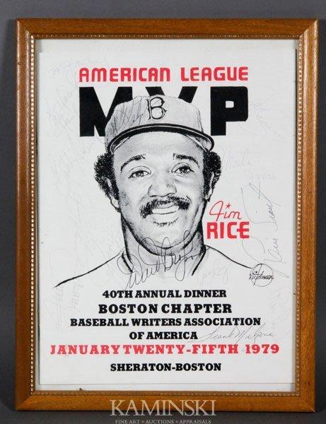 4017: American League MVP Dinner Program
