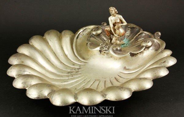 5001: Shell-shaped Silver Bowl