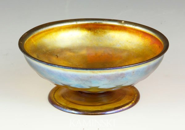 5006: Tiffany Favrile Footed Bowl