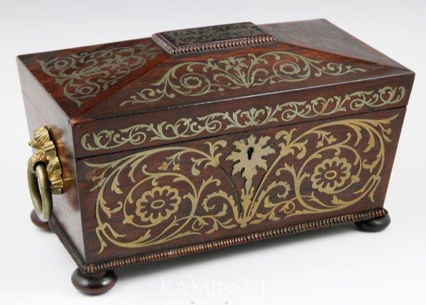 5012: 19th C. English Tea Caddy