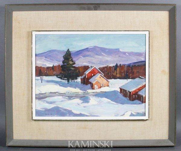 5015: Bryan, Vermont Snow Scene, O/C