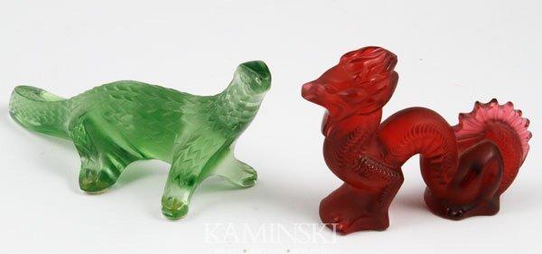 5023: 2 Lalique Komodo Dragons