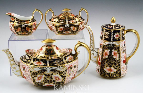5028: English Royal Crown Derby Tea Set