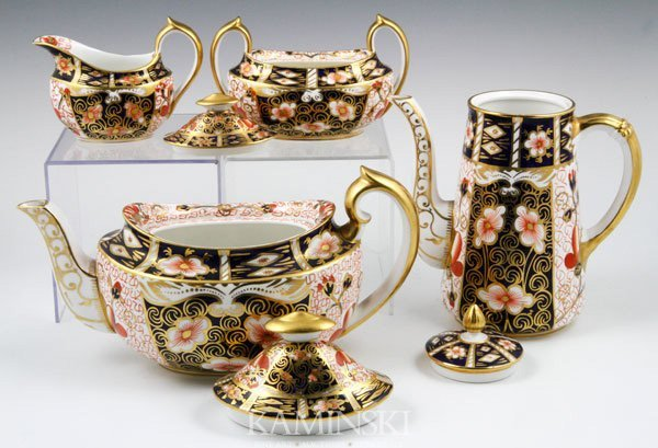 5028: English Royal Crown Derby Tea Set - 2
