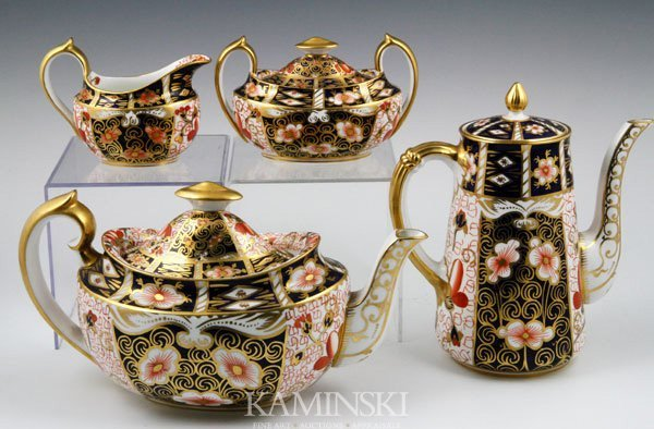 5028: English Royal Crown Derby Tea Set - 3