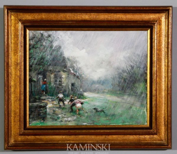 "5297: Herve, ""The Raining Day"", O/C"