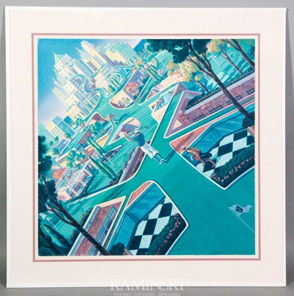 """6001: Young, """"21st Century Golf"""", Serigraph"""