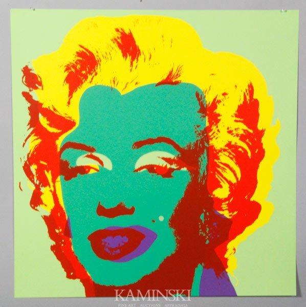 """6002: Warhol, """"Marilyn II.25 Sunday B. Morning"""", Serigr"""