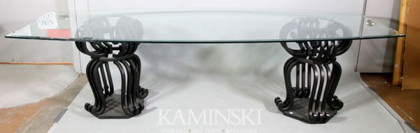 6008: Beveled Glass Dining Table