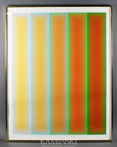 "6013: Anuszkiewicz, ""Neon Bands from the Inward Eye"", S"