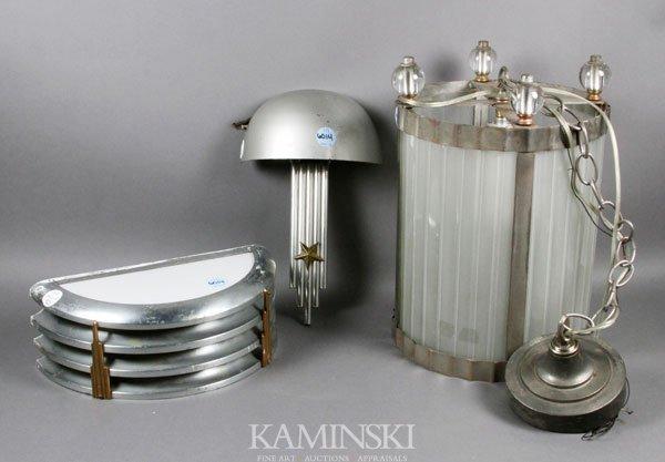 6014: 3 Art Deco/Machine Age Lamps