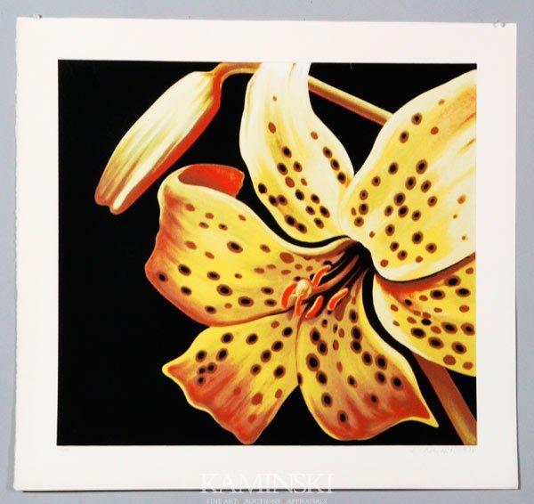 """6018: Nesbitt, """"Yellow Lilly"""", Lithograph"""