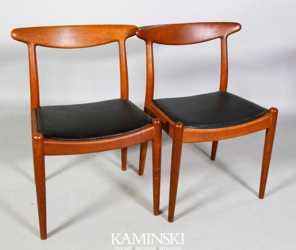 6019: Pair Hans Wegner Side Chairs