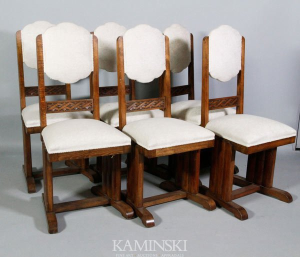 6022: 6 Early 20th C. Side Chairs