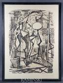 6164: Marx, Abstraced Figures, Lithograph