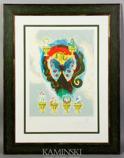 """6237: Dali, """"Wealth, Health, Fame and Love"""", Color Lith"""