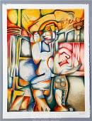 "6420: Nechita, ""Adolescence the Inevitable Maze"", Litho"