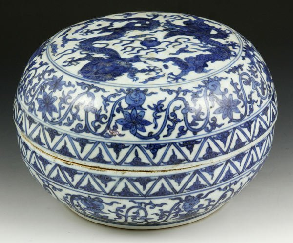 7006: Chinese Blue and White Porcelain Box