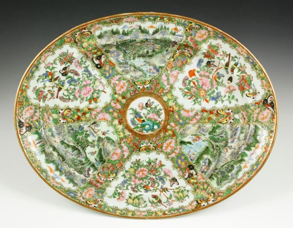 7010: Chinese 19th C. Rose Medallion Platter