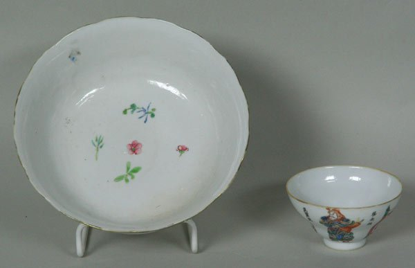7020: Two (2) 19th C. Chinese Famille Rose Bowls