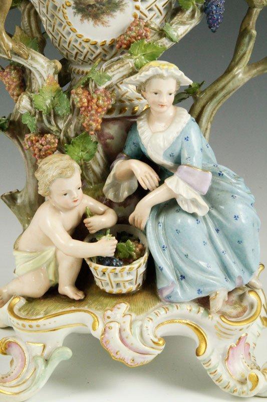 19th C. Meissen Figural Perforated Vase - 2