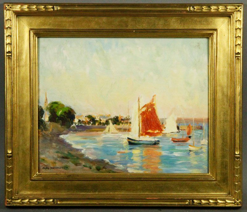 """Low, """"Summer Evening Locquirec (Brittany)"""", O/P"""