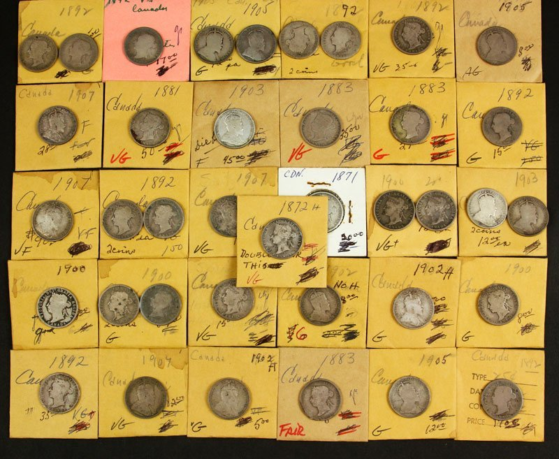 Lot of Canadian Silver Quarters