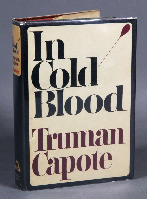 """Signed Truman Copote, 1st Ed. """"In Cold Blood"""""""