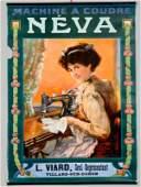 Neva Sewing Machine Advertising Poster