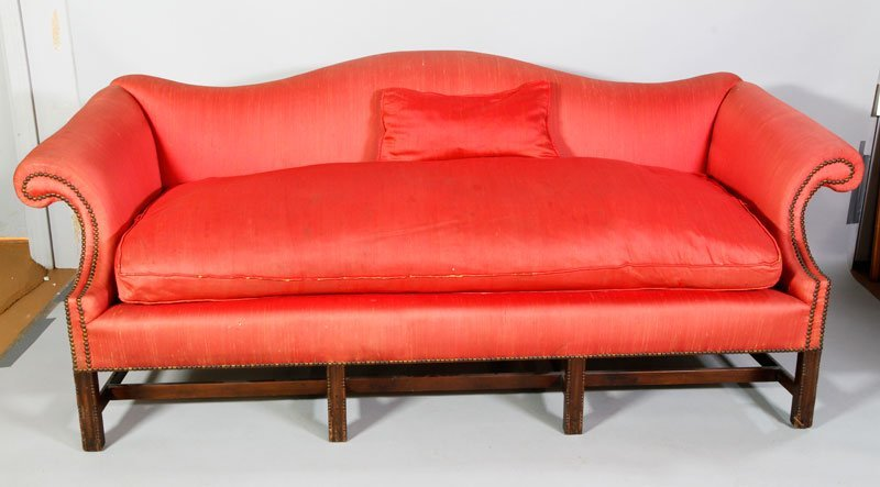 19th C. Chippendale Mahogany Sofa